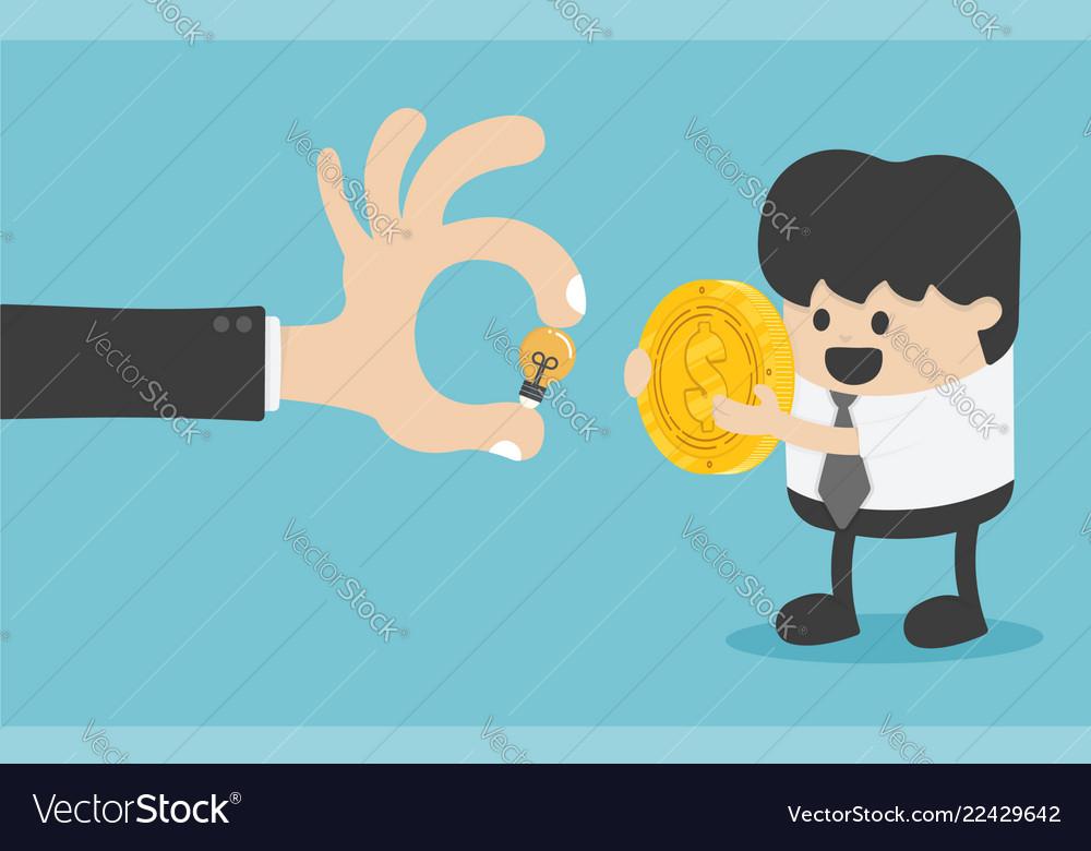 Concept money exchange with creativity has the
