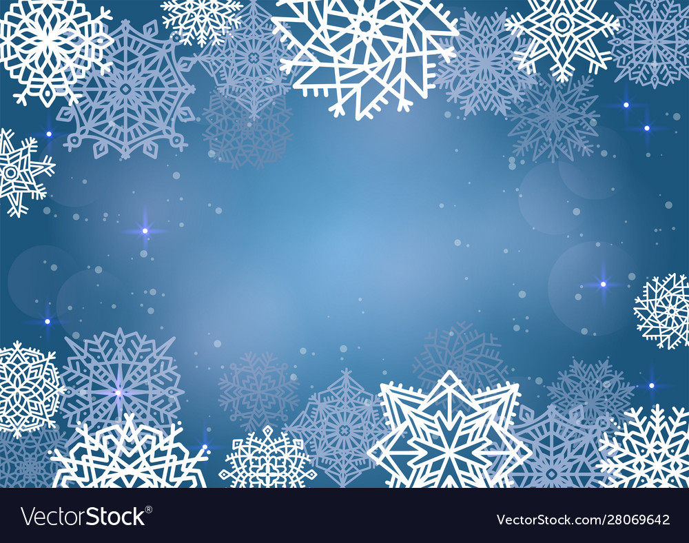 Elegant christmas background with many snowflakes