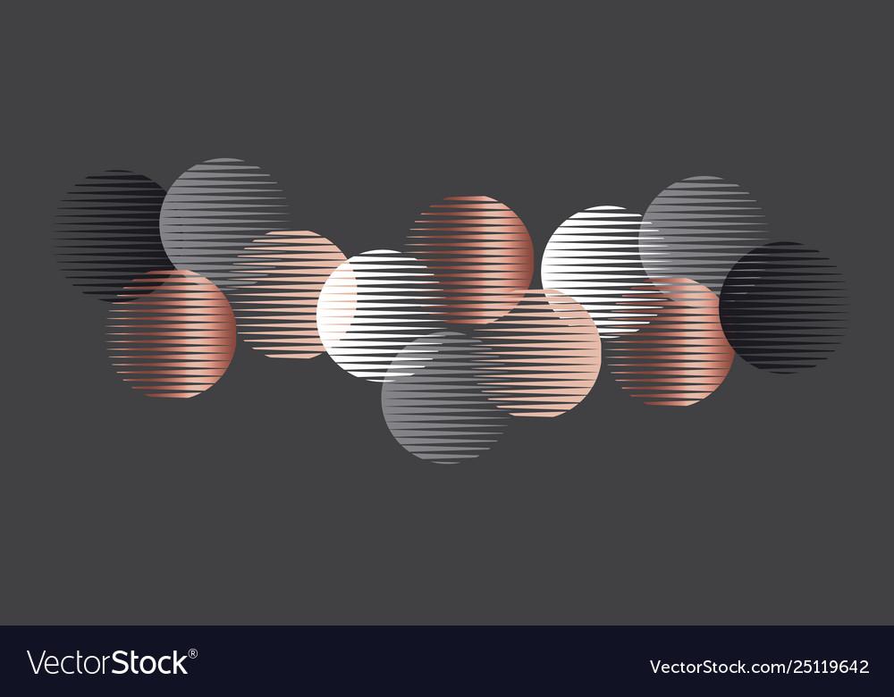 Elegant luxury round geometry shapes pattern