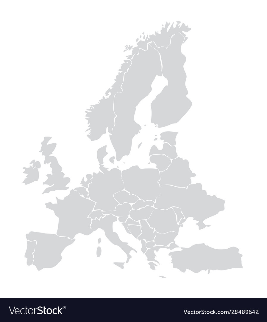 Image of: European Map Germany Italy Royalty Free Vector Image