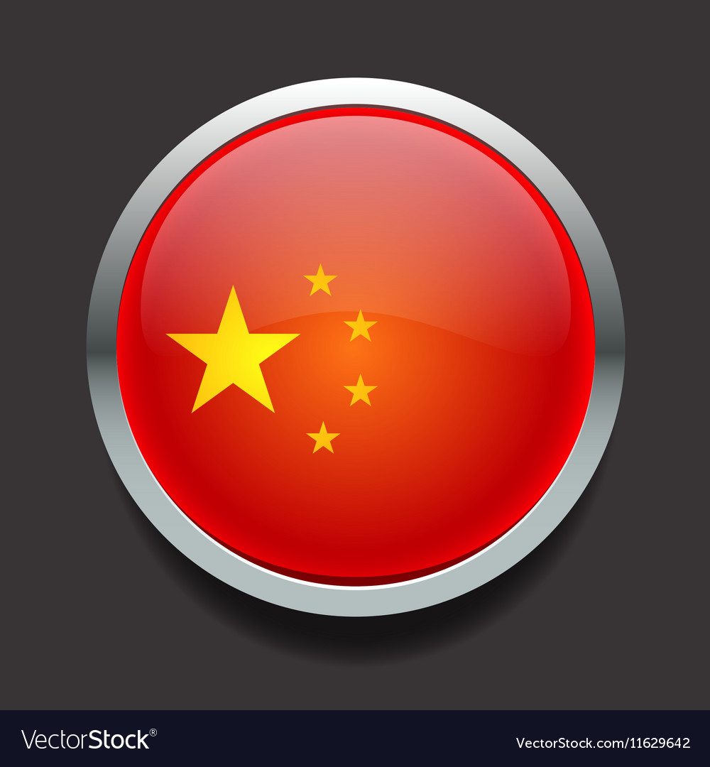 FlagsChinaGlass vector image