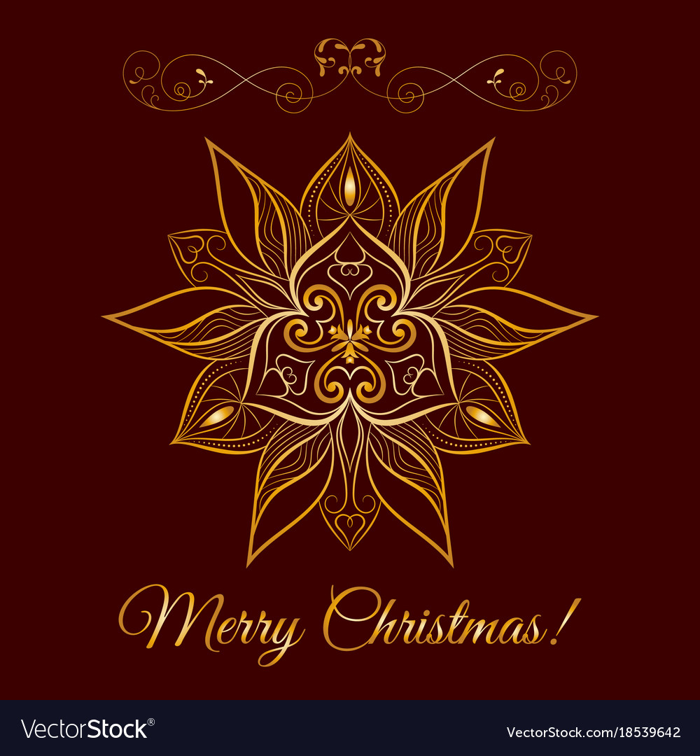 Gold snowflake icon over brown background