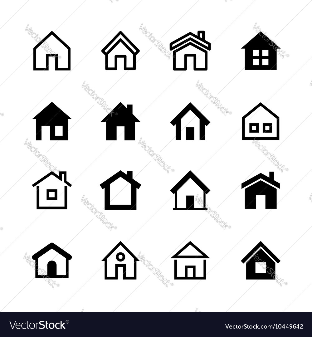 Home icons set Homepage - website or real estate