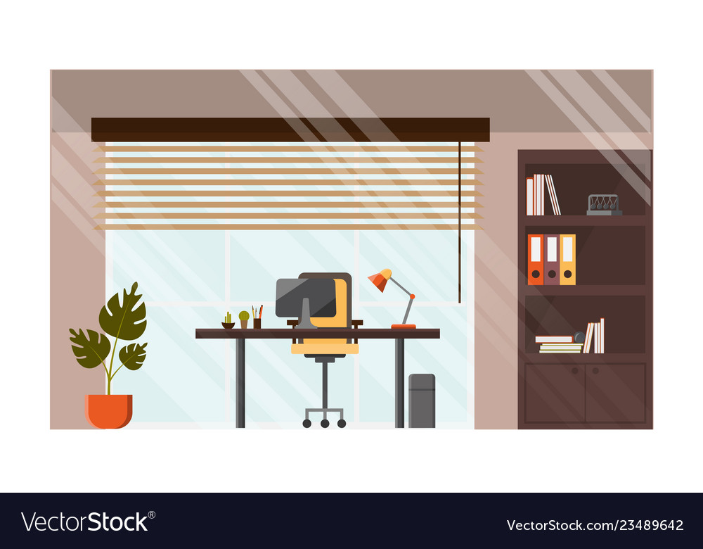 Modern office comfortable workplace concept