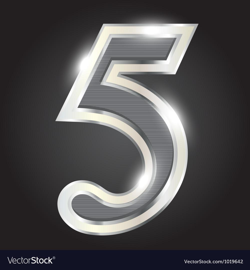 Silver metallic number