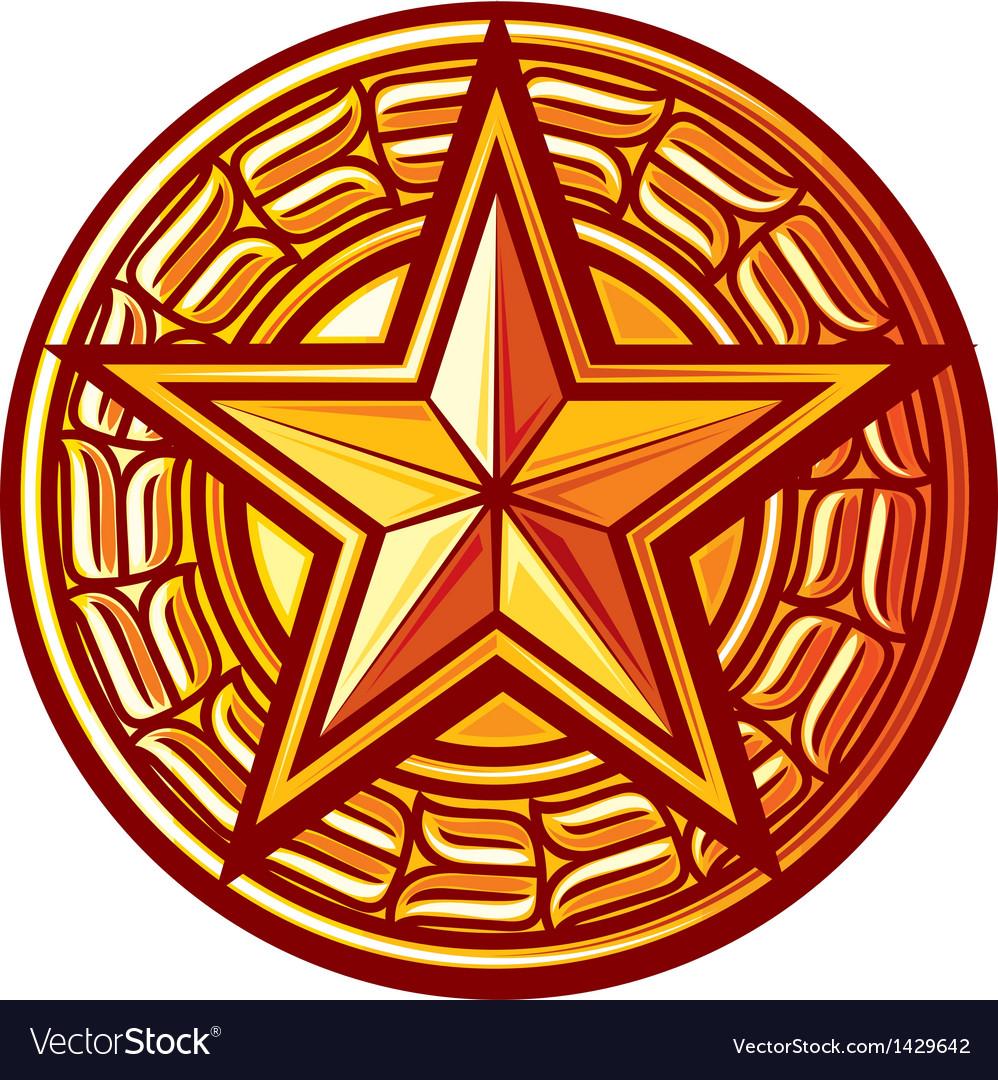 Star badge vector image