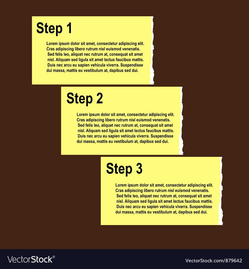 Torn paper progress option or steps background
