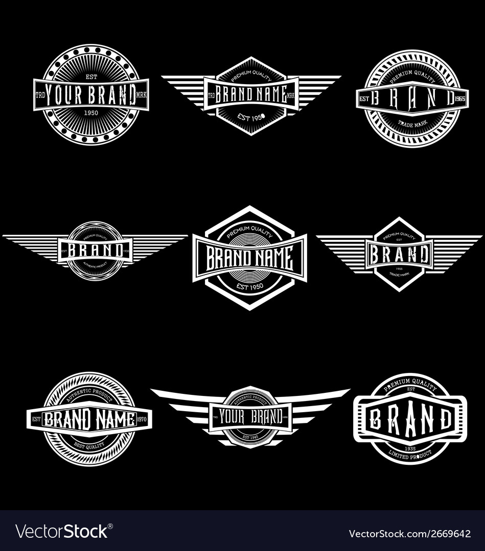 Vintage badge labels