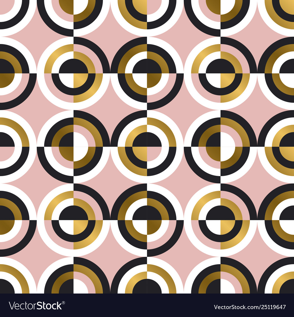Abstract geometric circles seamless pattern