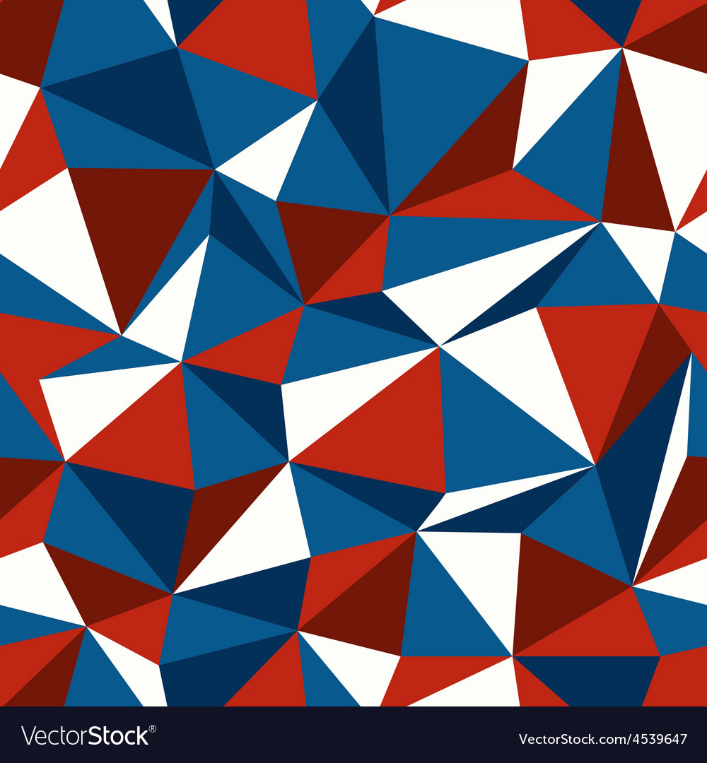 Blue and red triangle seamless