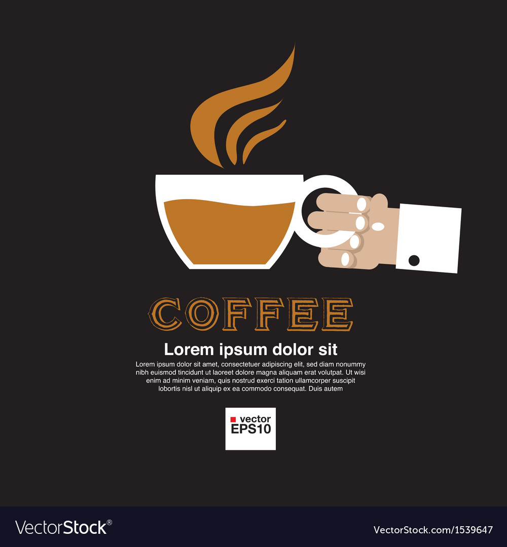 Coffee Cup In Hand vector image