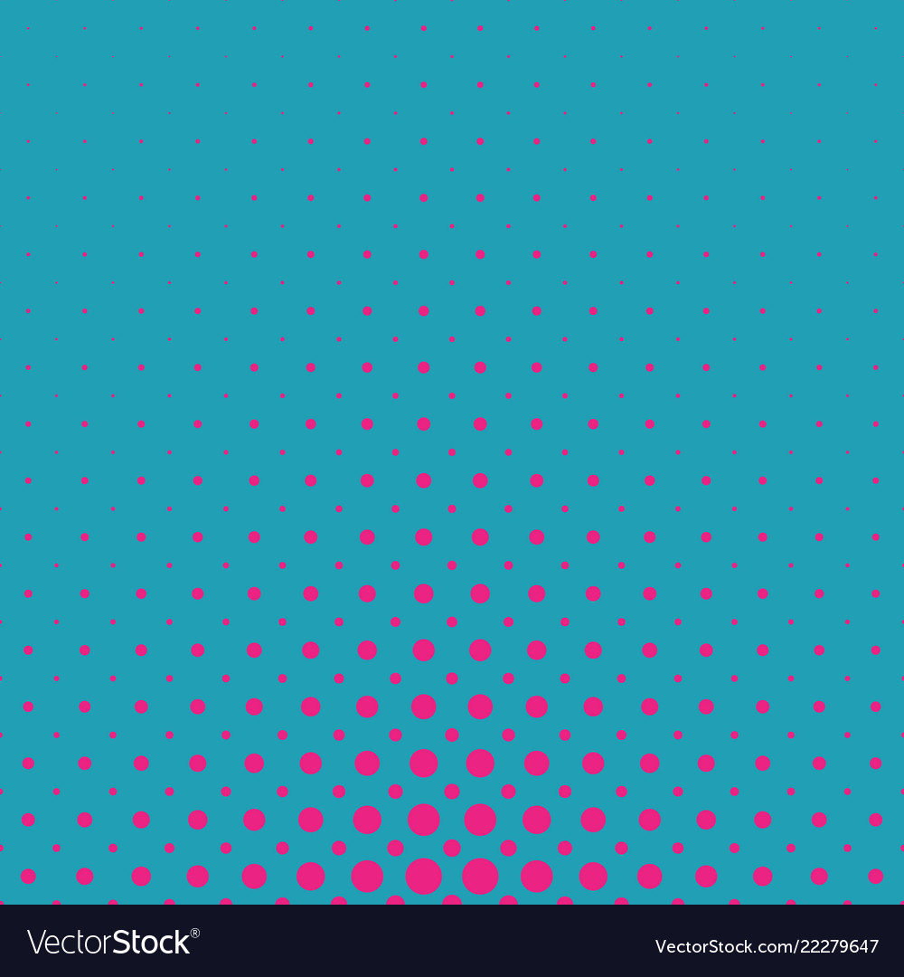 Color abstract geometric halftone dot pattern