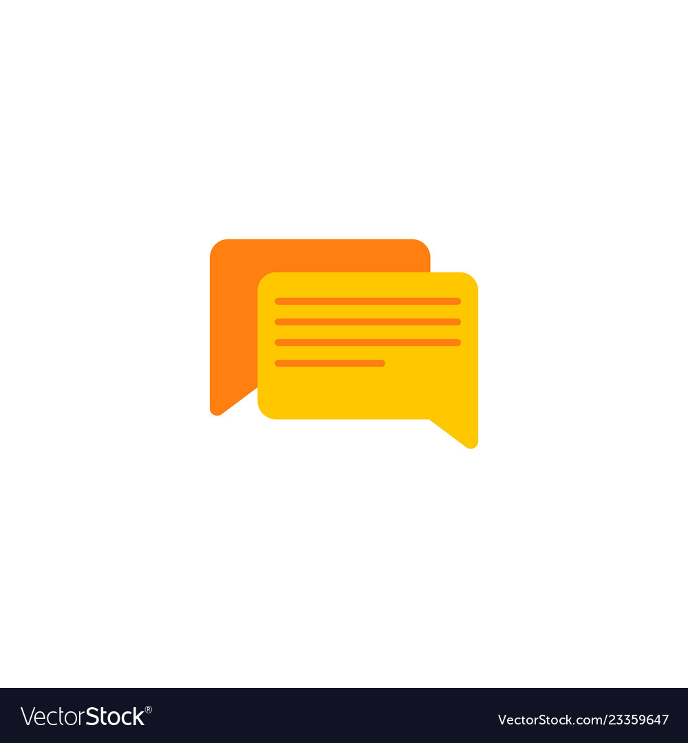 Comments icon flat element of