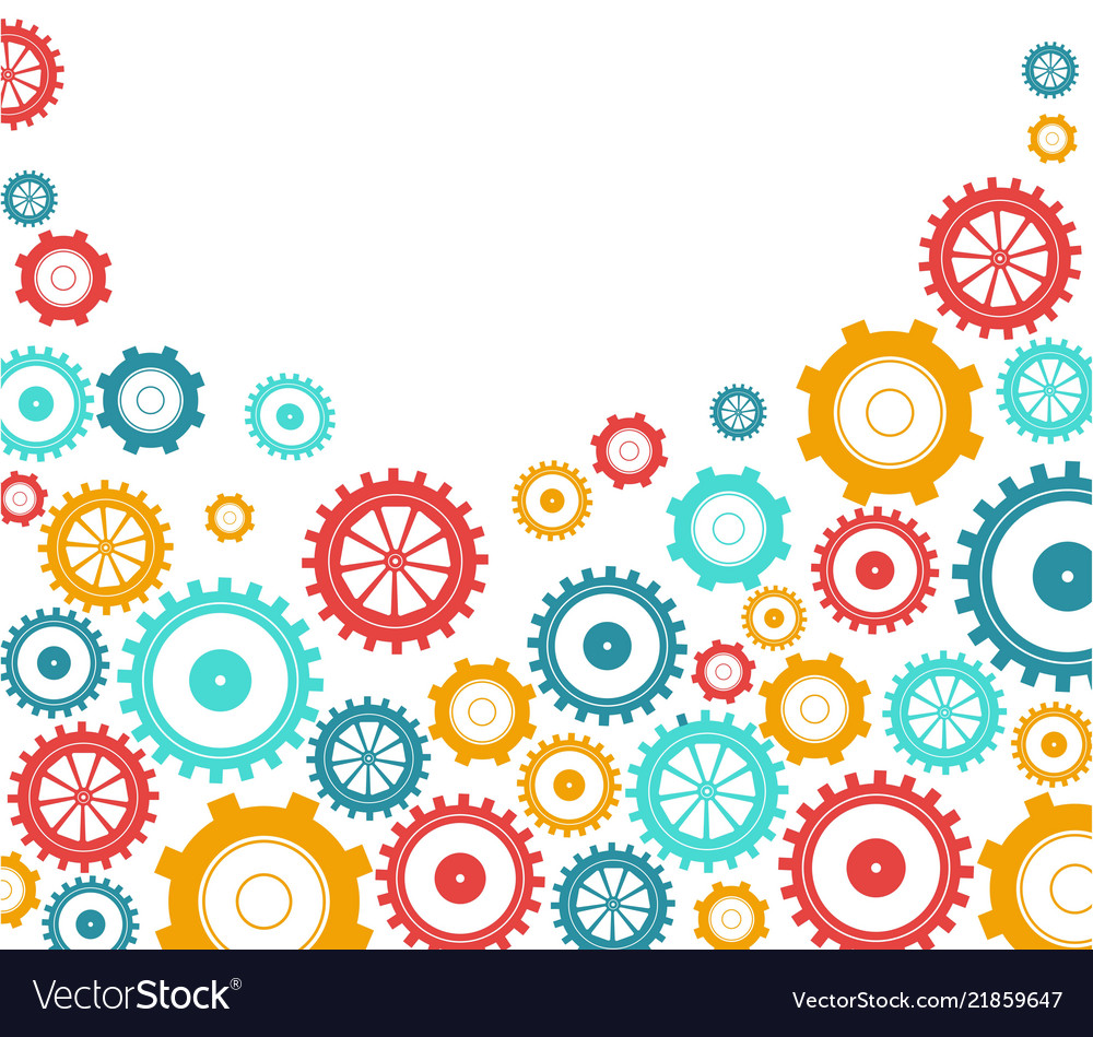 Gears bright background innovation ideas and