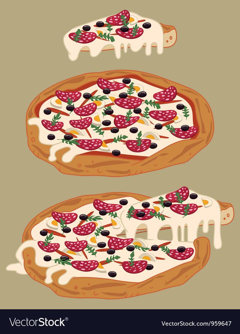 Italian handmade pizza vector image