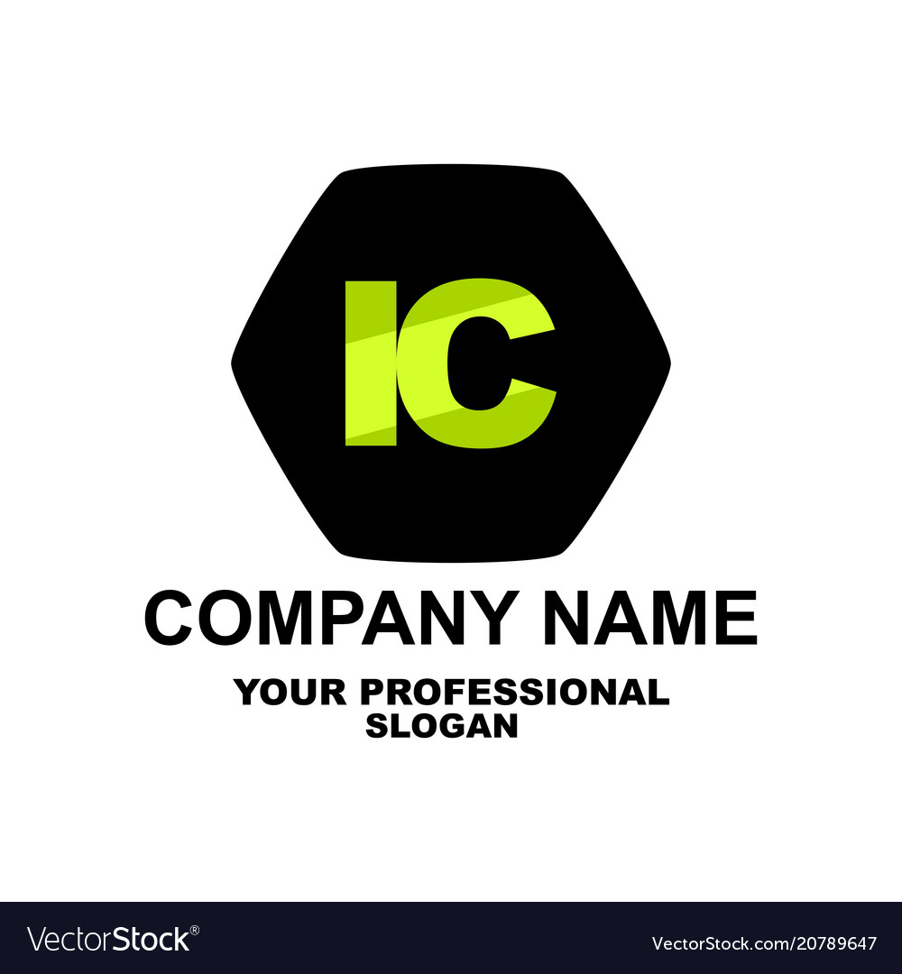 Letter Logo Two Letters I And C Royalty Free Vector Image