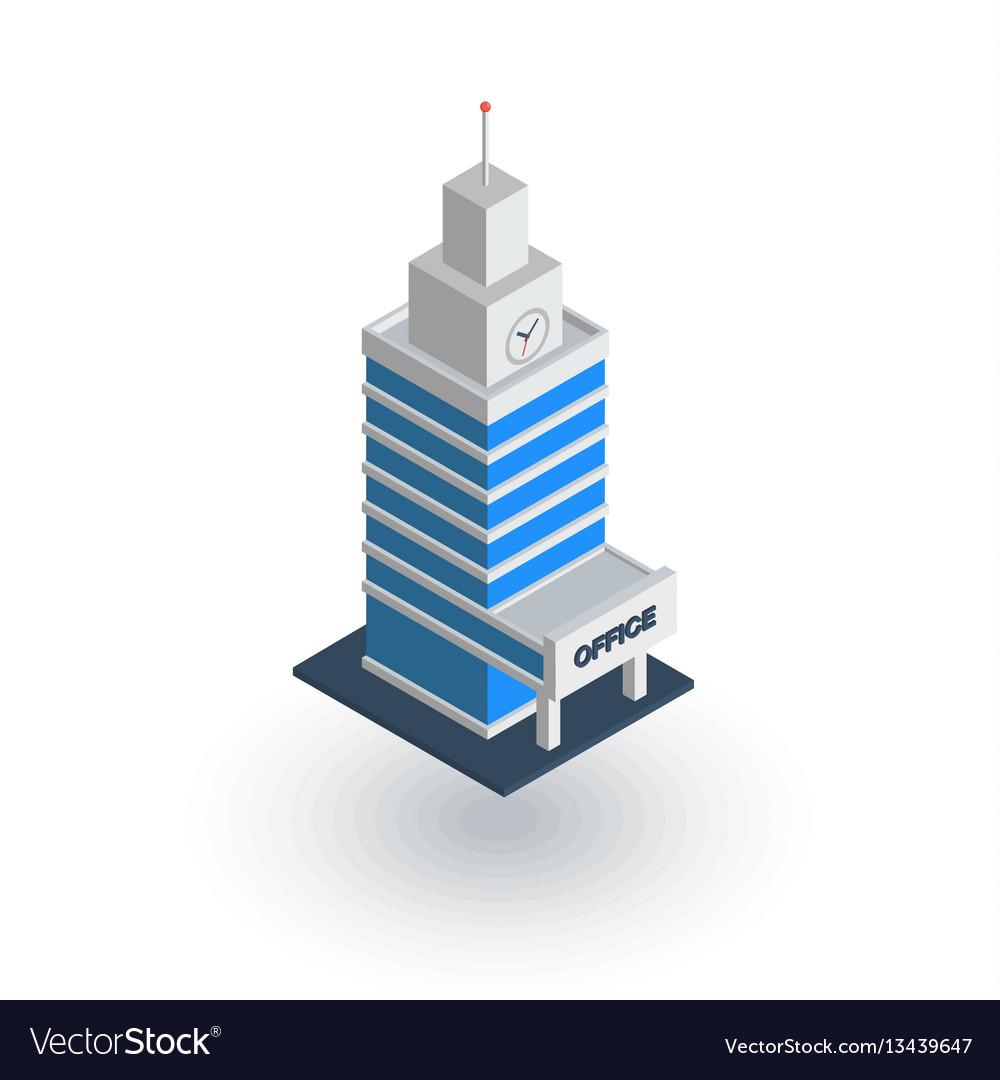 Office city building urban skyscraper isometric
