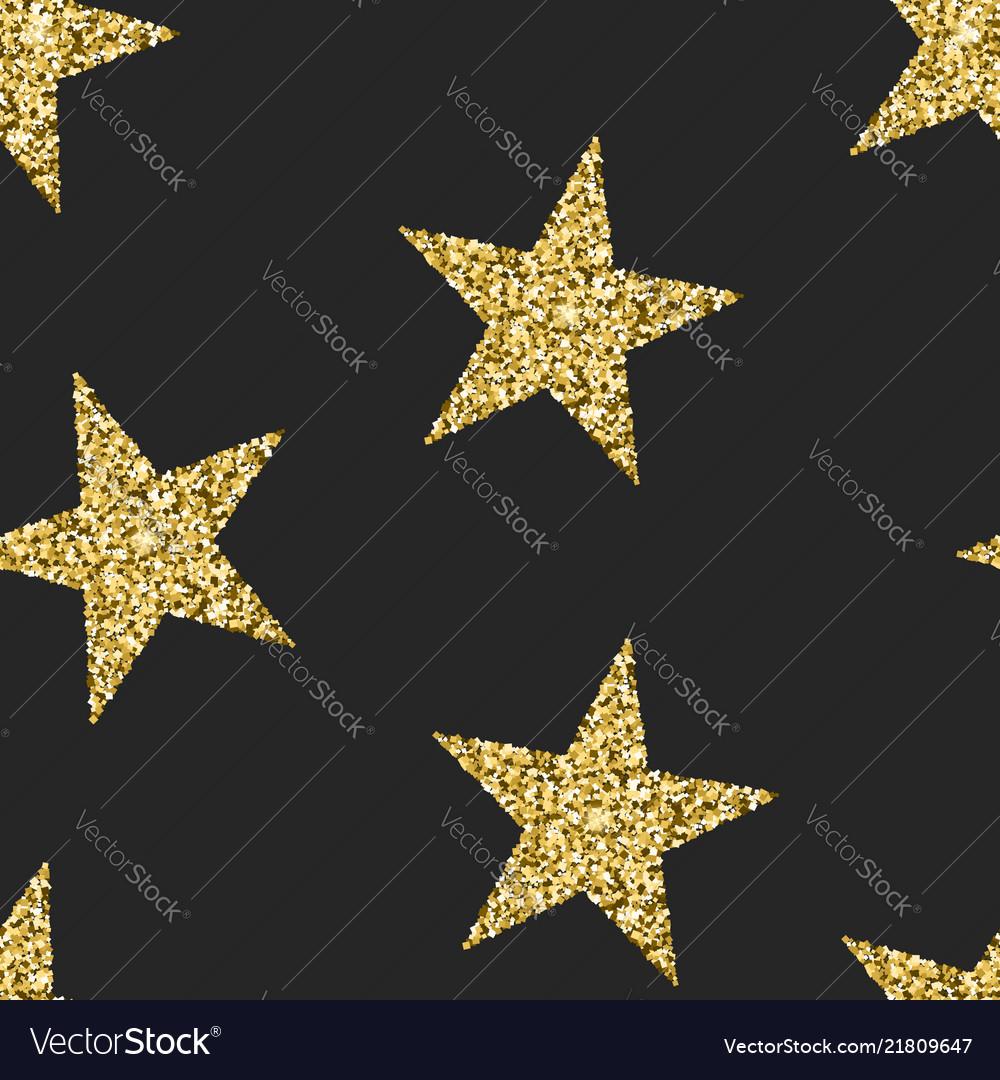 Seamless pattern with glittering stars shining