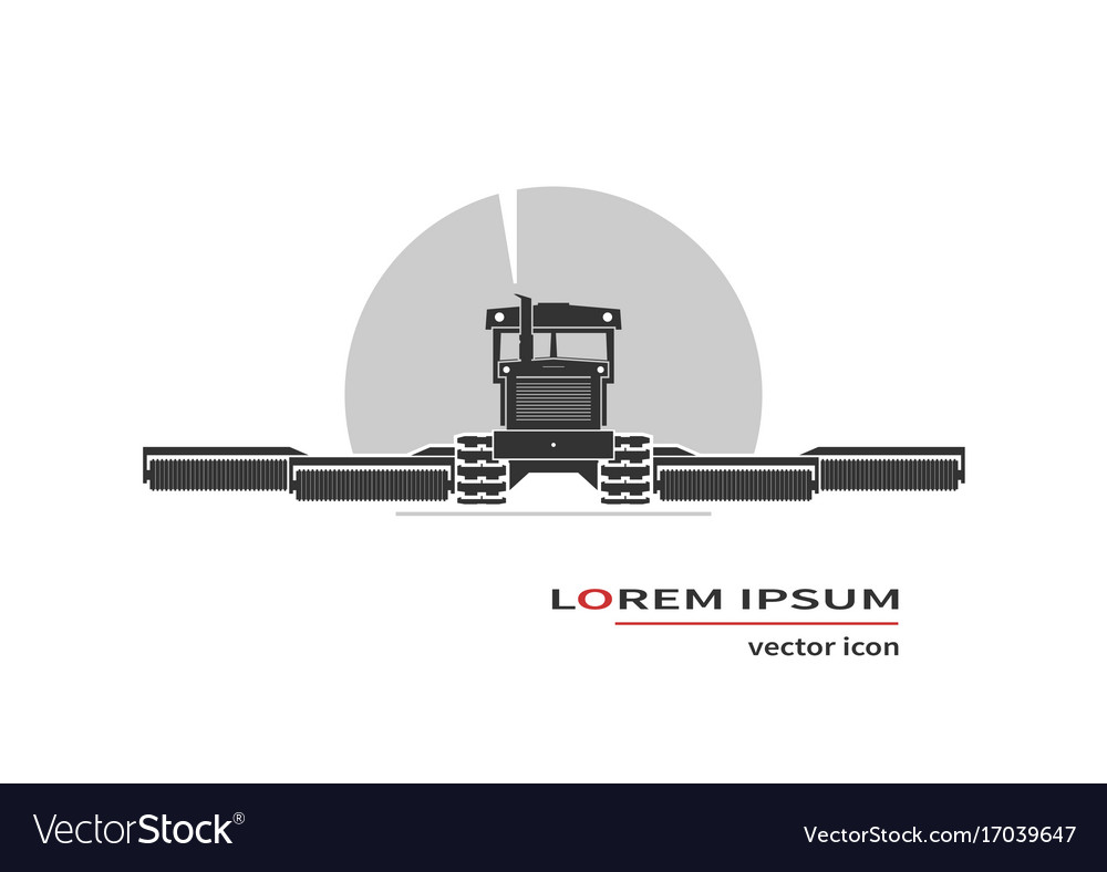 Tractor working in field vector image