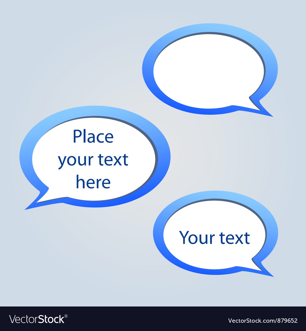 Abstract web design background with speech bubbles