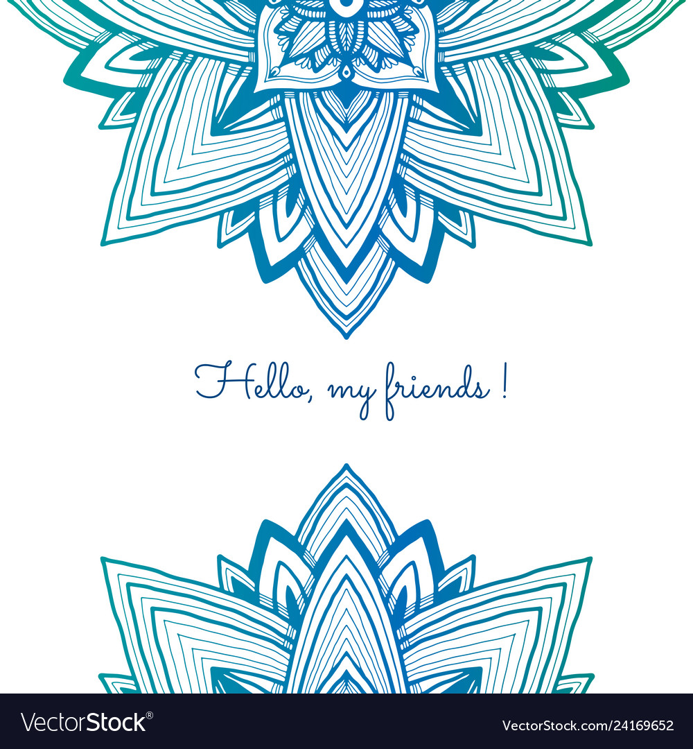 Blue colorful decorative background abstraction