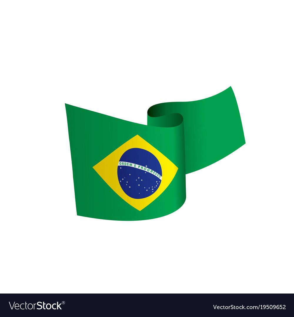 brazil flag royalty free vector image vectorstock rh vectorstock com brazil flag vector file free brazil flag vector ai