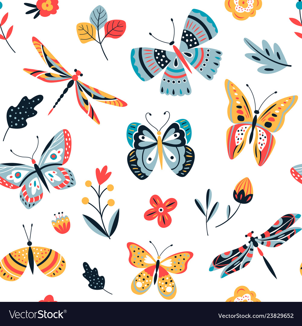 Butterfly pattern flying butterflies moths and