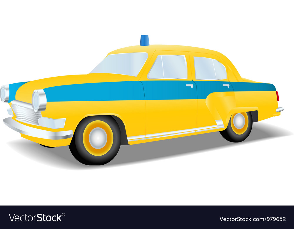 Classic police car of the USSR