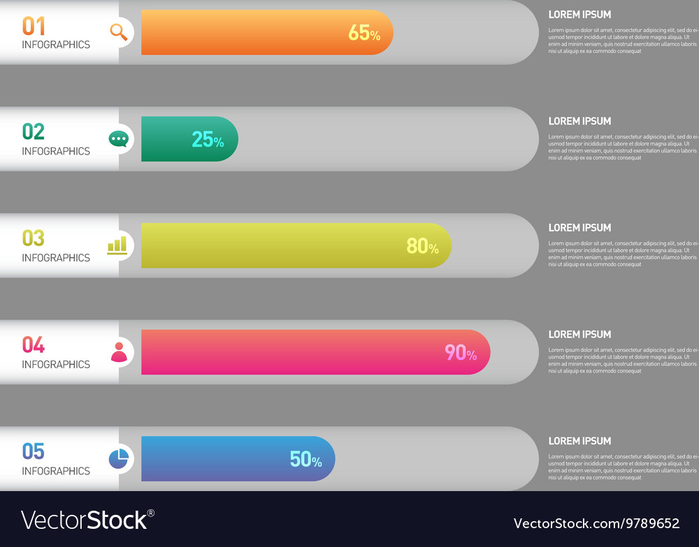 Infographic banner template design element