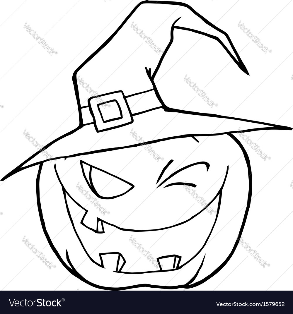 Jack O Lantern Cartoon Royalty Free Vector Image