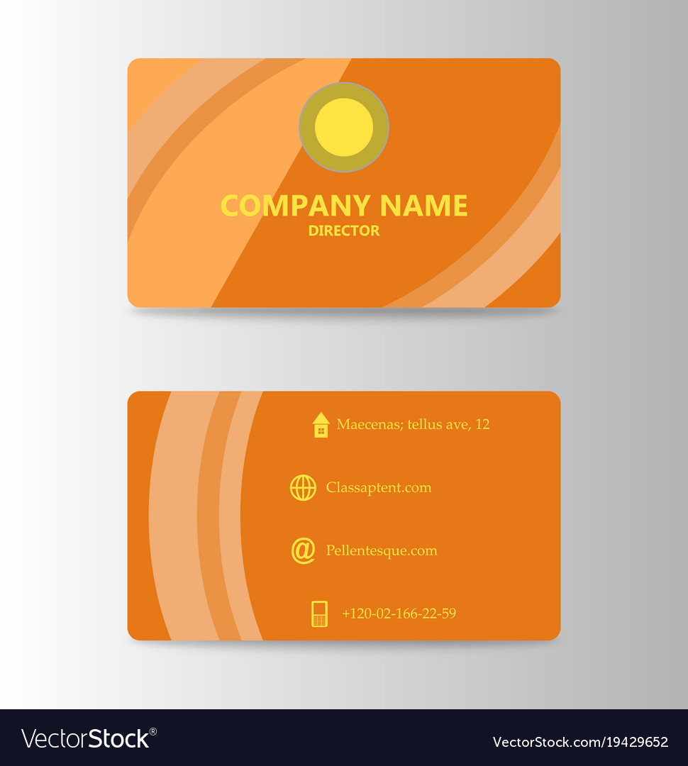 Modern business card print template trending vector image reheart Image collections