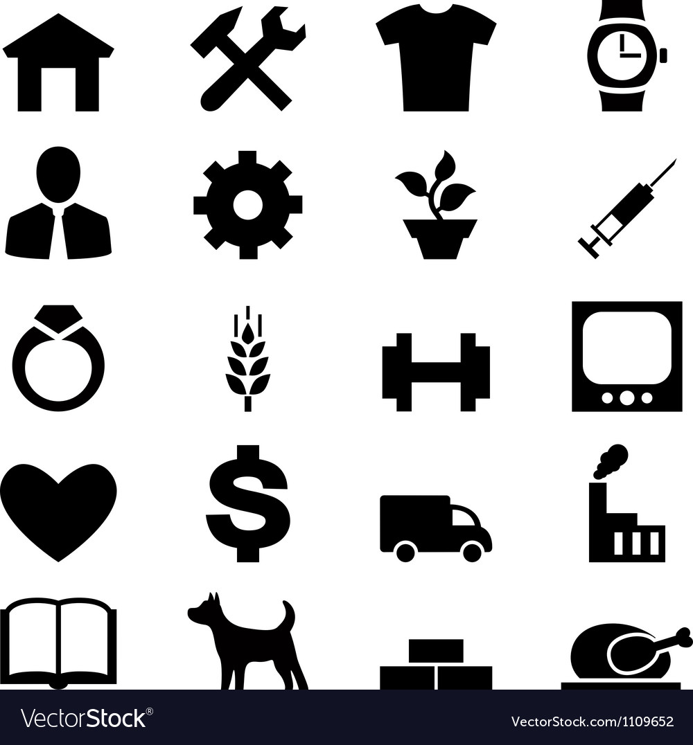 Set icons for web mobile and other design