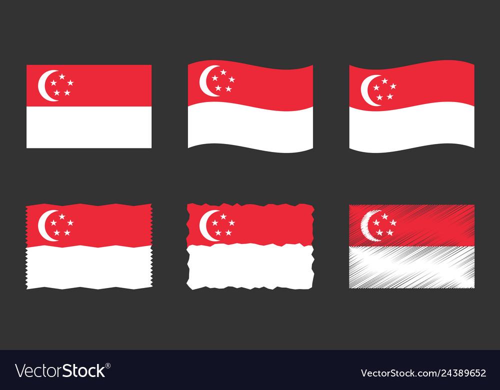 Singapore flag set official