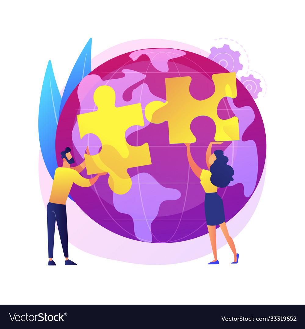 Social participation abstract concept