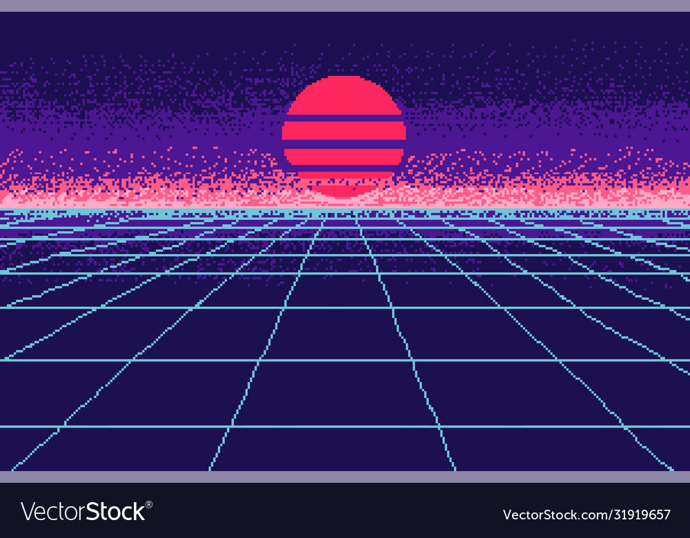 80 s purple city pixel art 8 bit object fashion