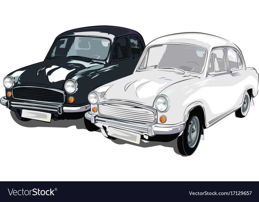 Black and white colour ambassador car