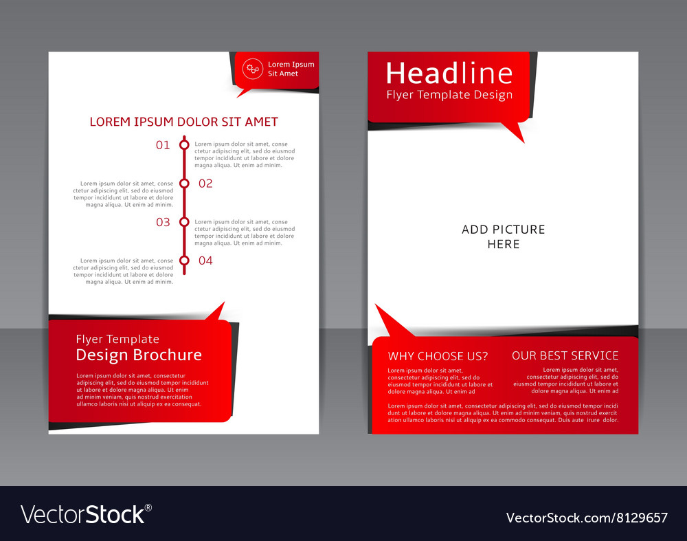 Design of the red-black and white flyer