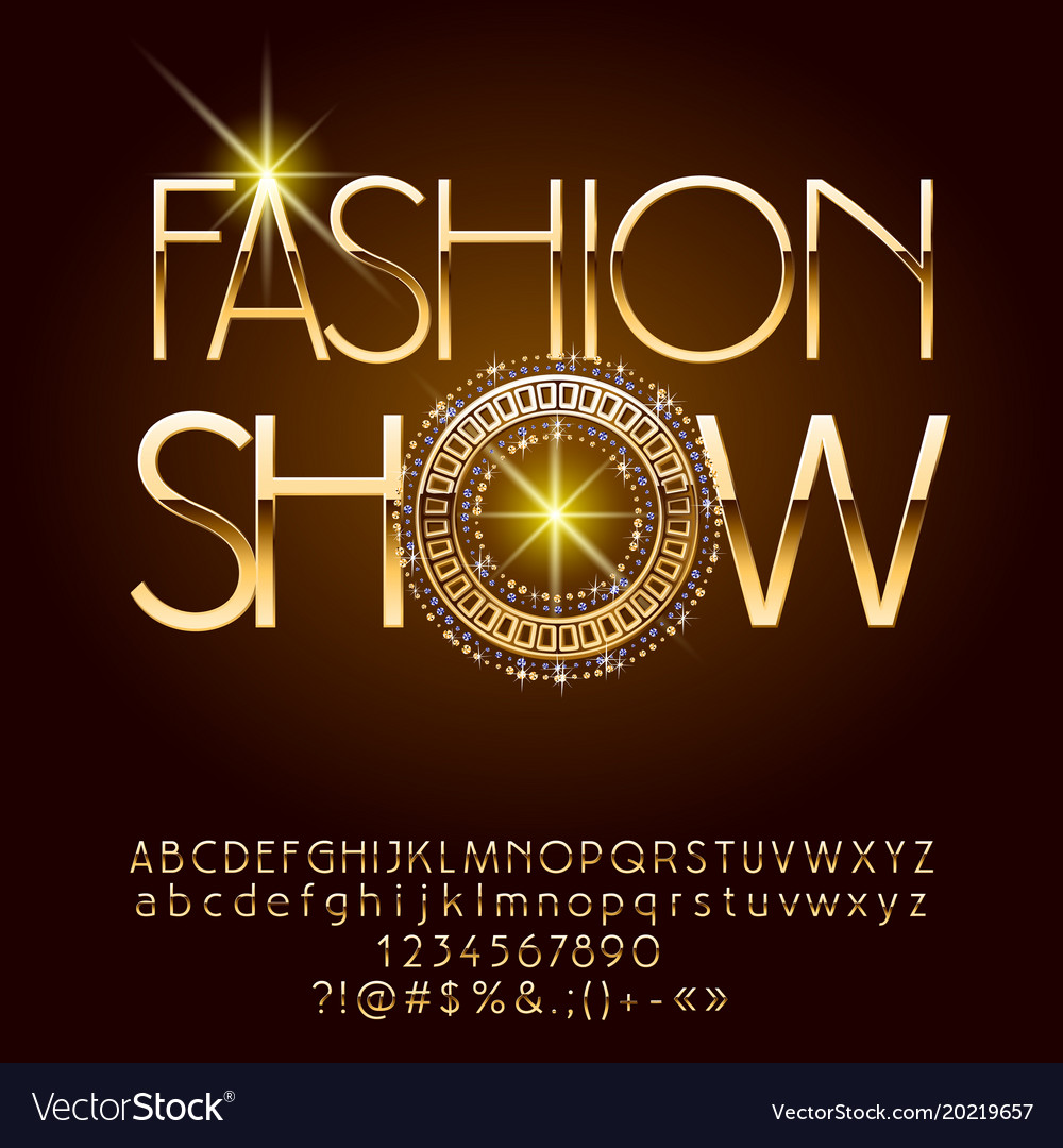Elegant logotype fashion show vector image