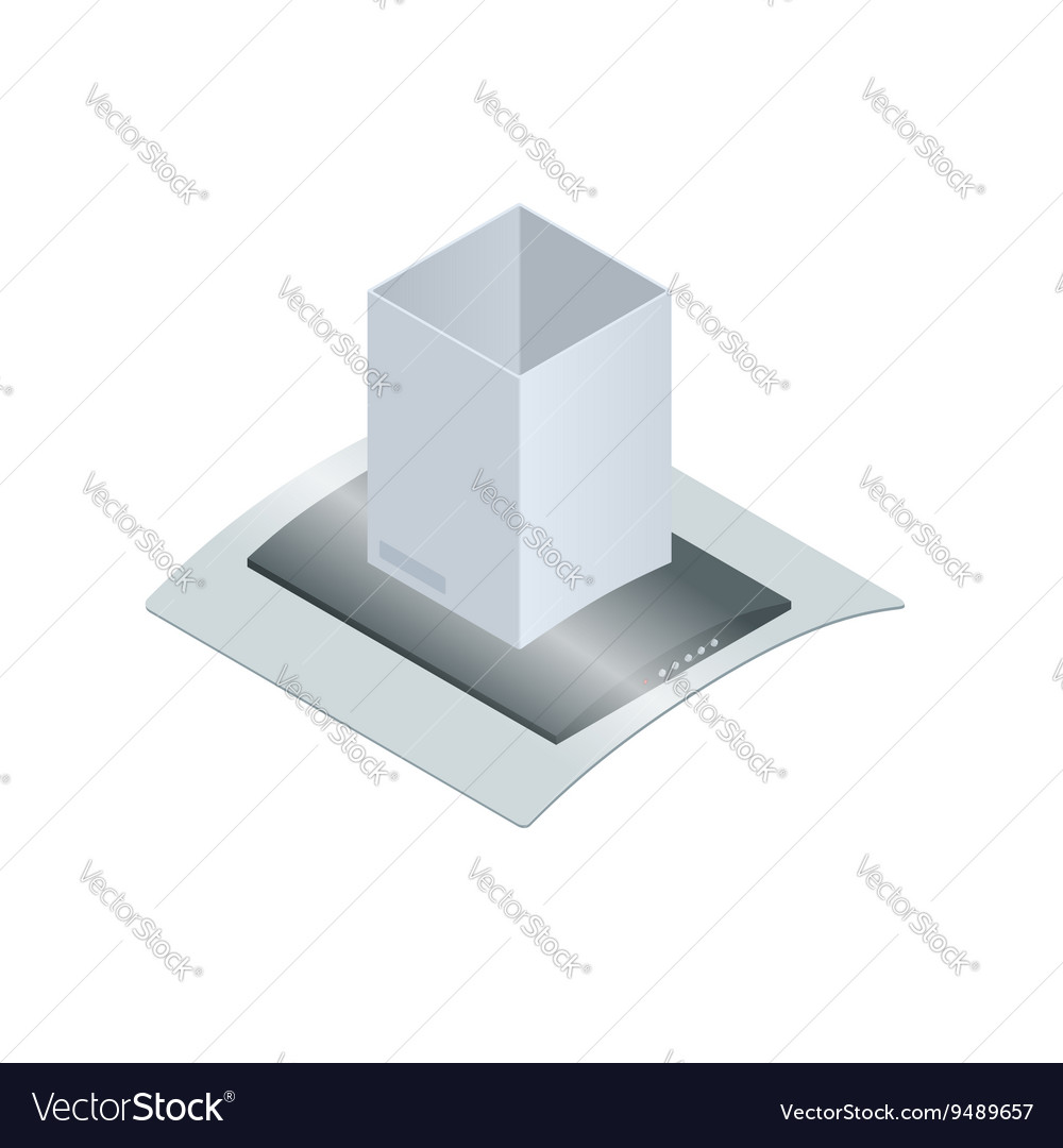 Extractor hood for kitchen Royalty Free Vector Image