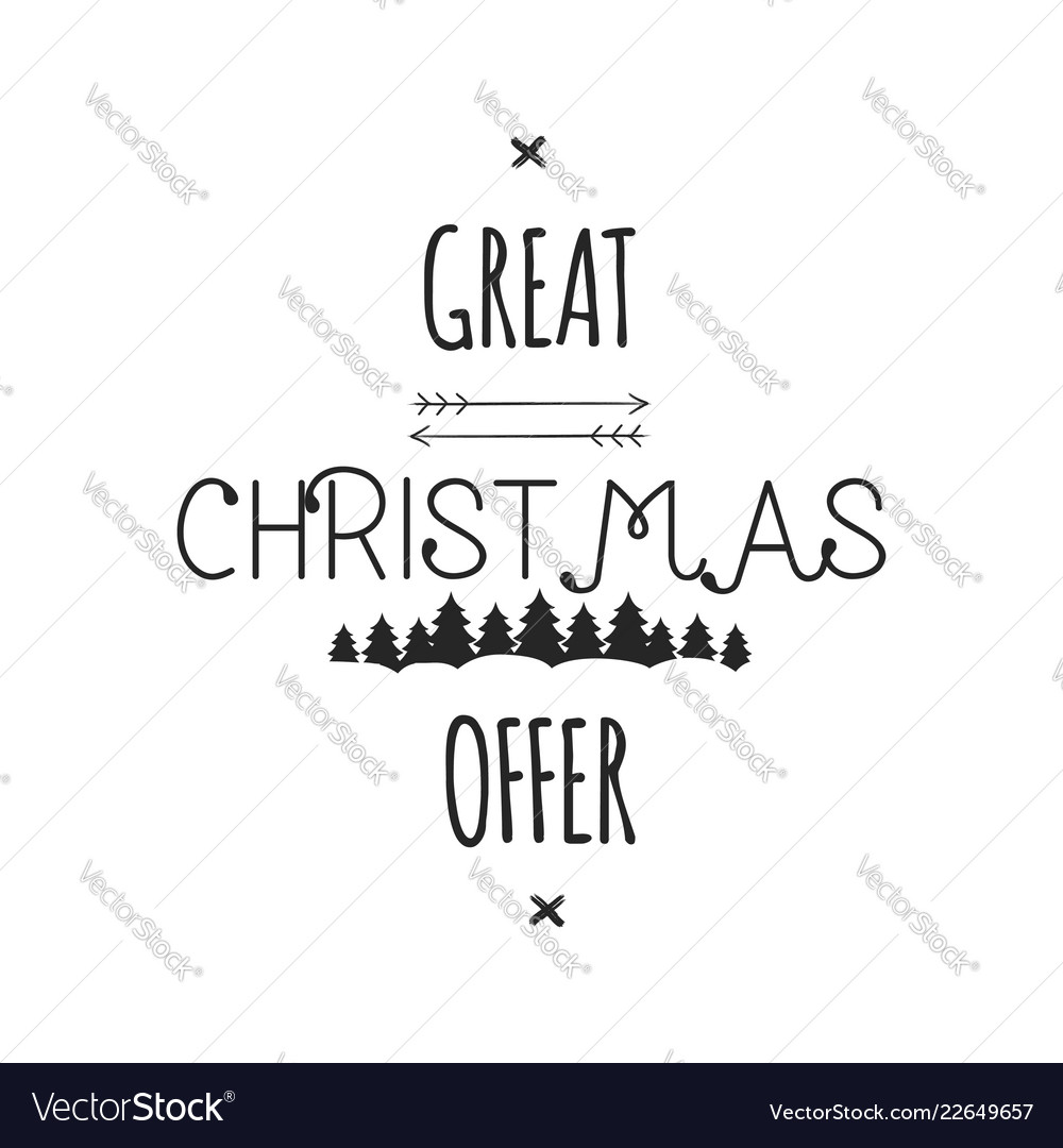 Great christmas offer typography overlay xmas