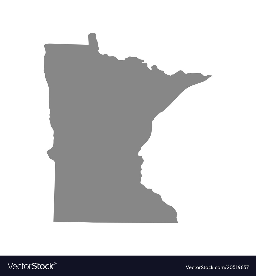 Map Of The Us State Of Minnesota Vector Image