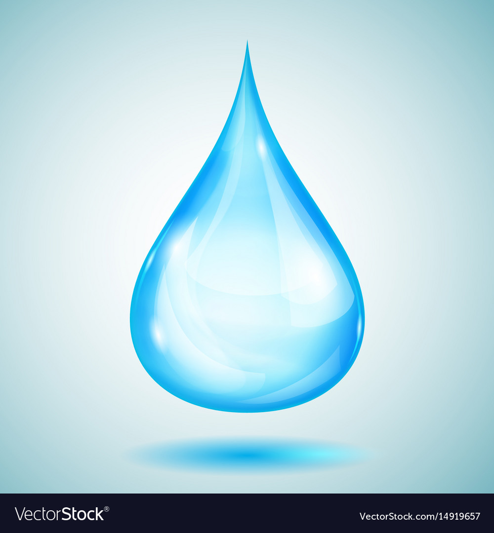 One big light blue drop
