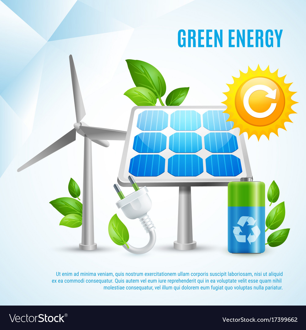 Green energy design concept