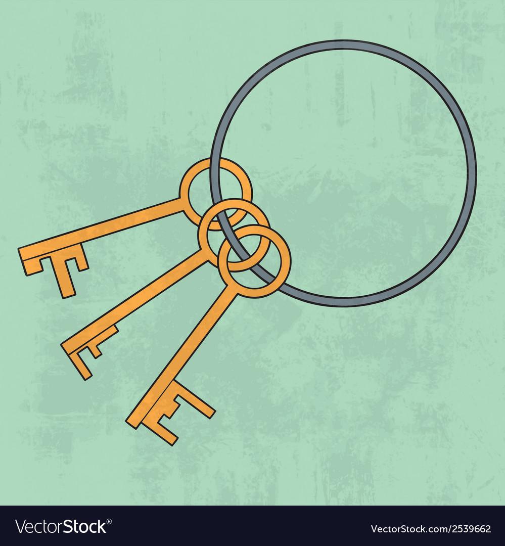 Old keys bunch Icon vector image