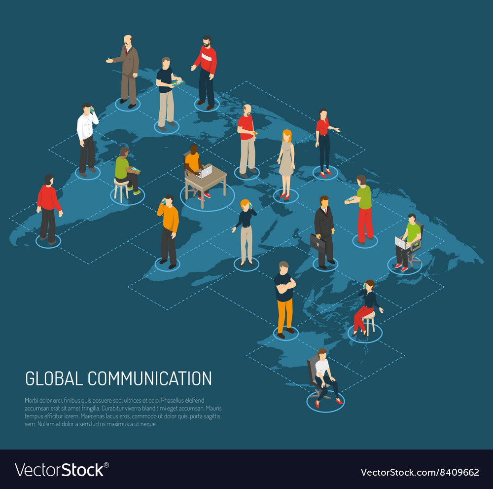 People Poster Of Global Communication