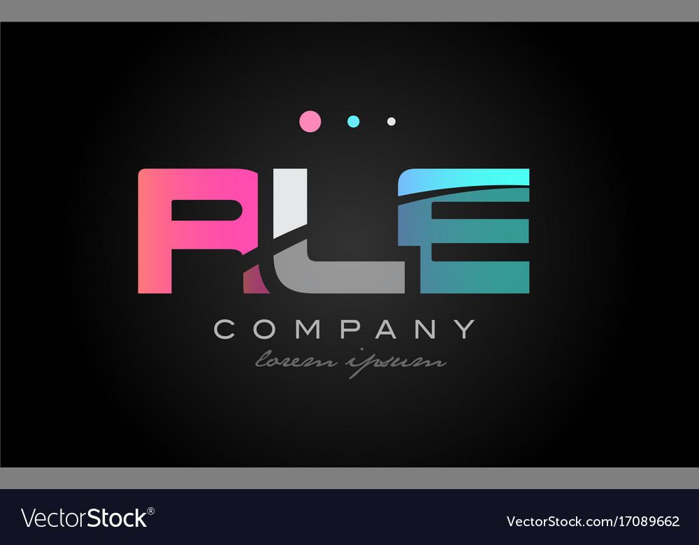Rle r l e three letter logo icon design