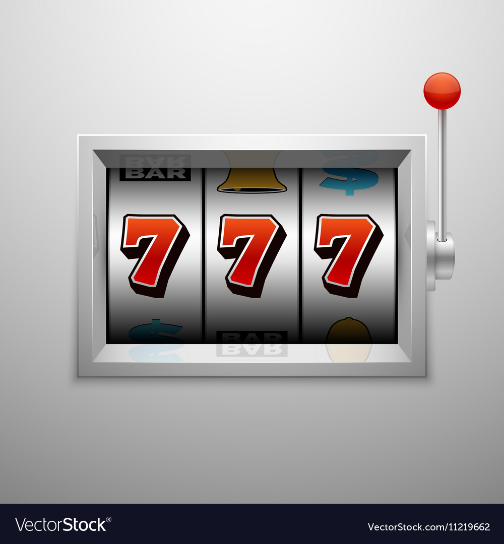 Slot machine with lucky seven casino