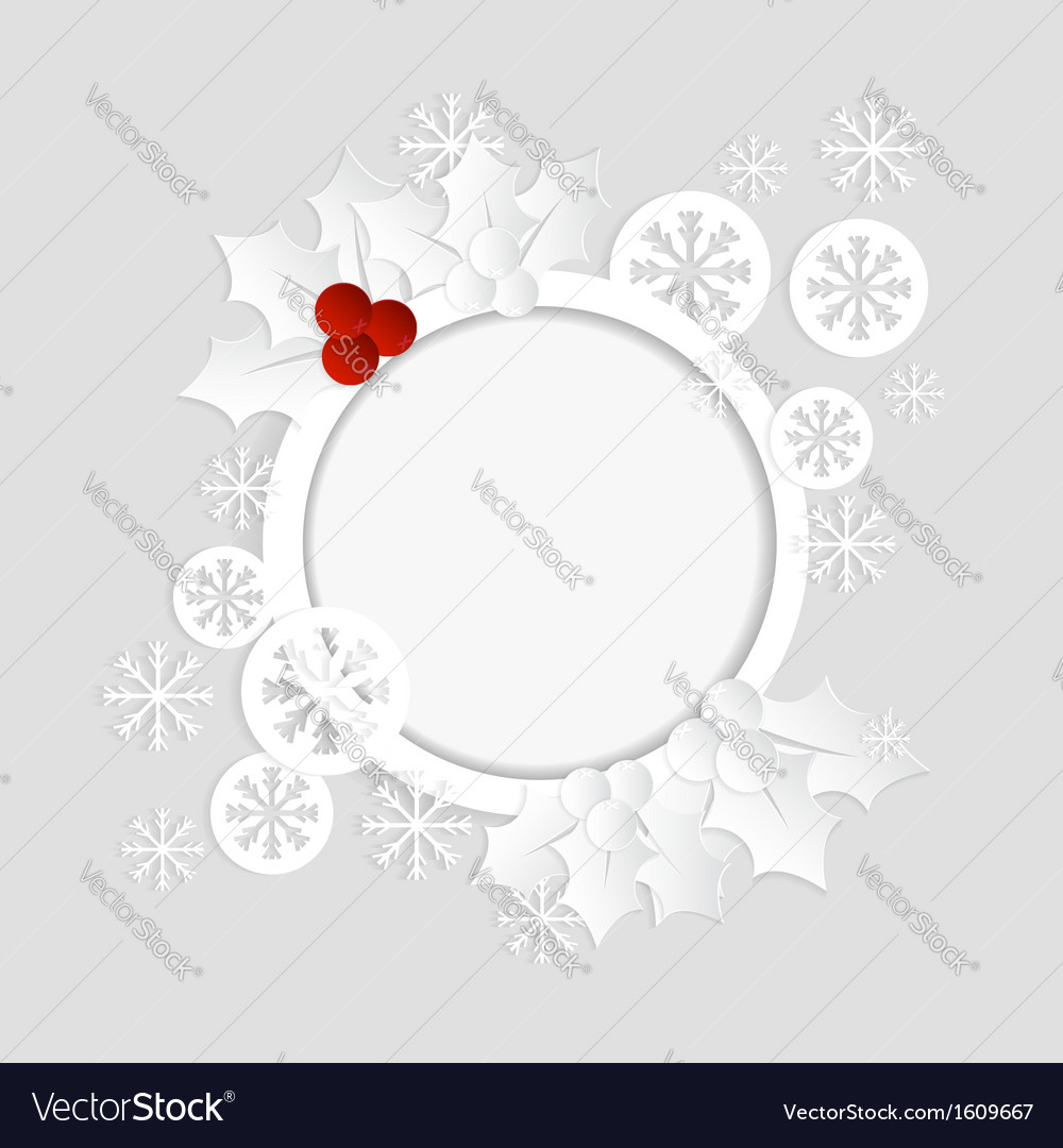 Christmas card paper template