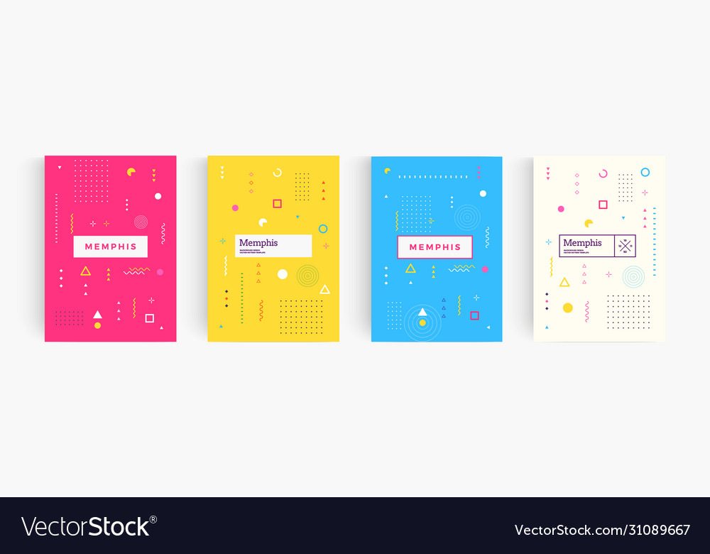 Colorful abstract minimalistic style poster
