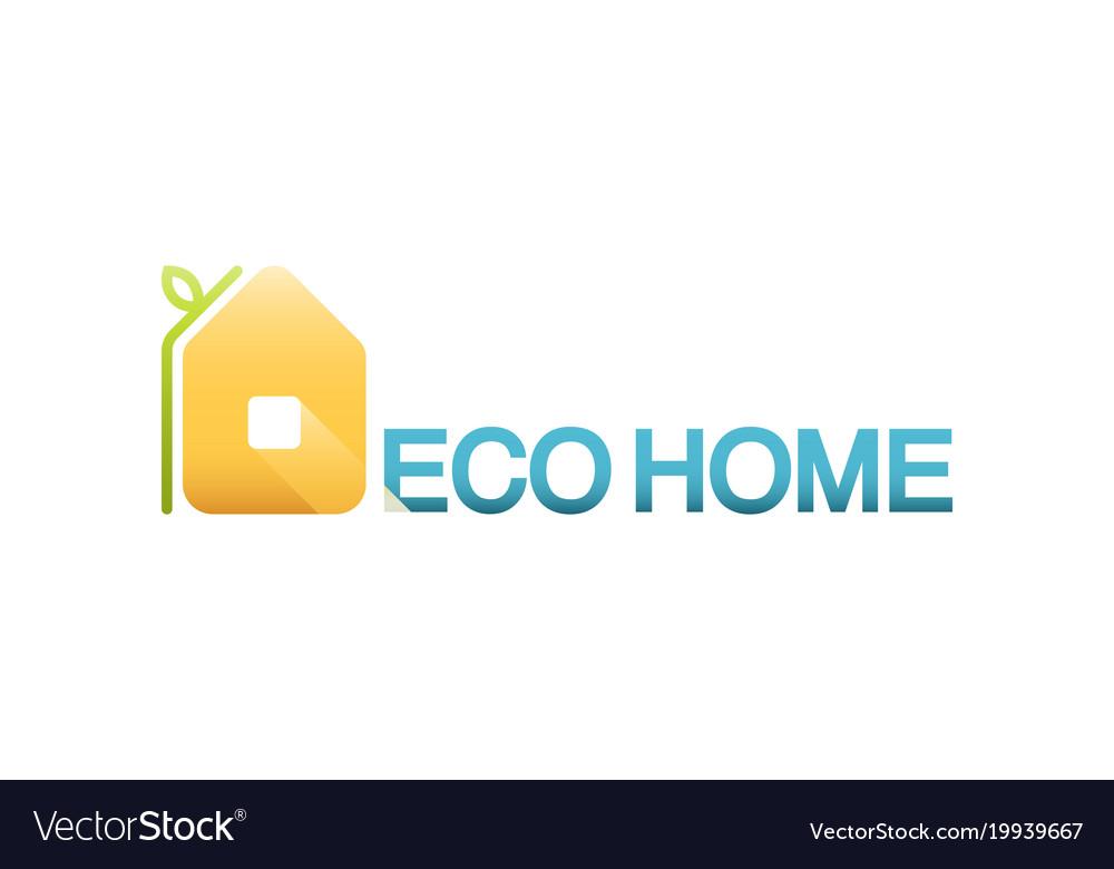Eco home logo design template